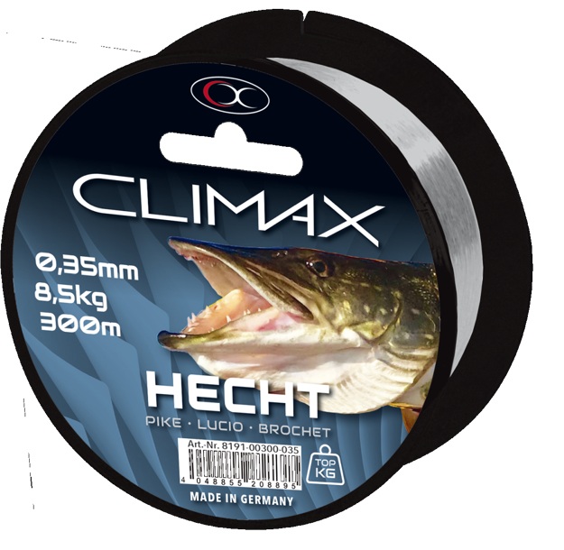 Bild von 250m 0,40mm Zielfisch Hecht hellgrau