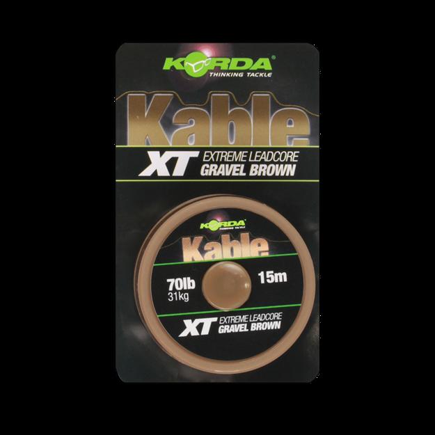 Bild von Kable XT Extreme Leadcore 70lb 15m Brown