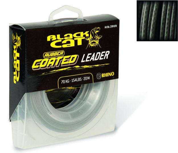 Bild von Rubber coated Leader 20m 70kg grau