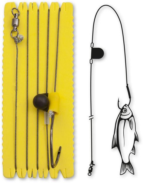 Bild von Black Cat Single Hook Rig with Rattle XL 8/0 100kg 20m