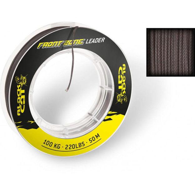 Bild von 1mm Front Zone Vorfach 50m 100kg,220lbs schwarz